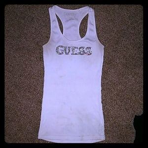 🆑*White Sparkly Guess Tank Top*🆑